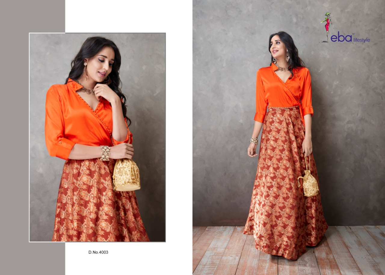 newest collection search for latest new list Festive Season Special - Satin Silk Tunic with Banarasi Silk Skirt